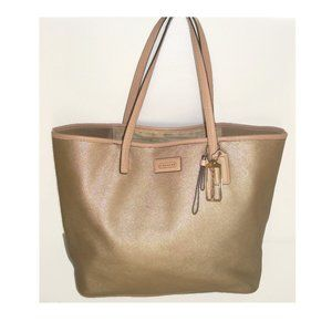 Coach Large Park Met Gold Saffiano Leather Tote